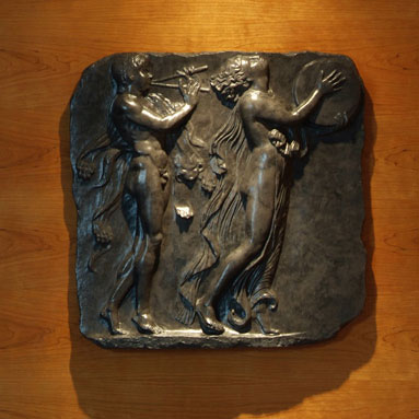 Black Bas-Relief Wall Plaque