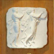 White Bas-Relief Wall Plaque