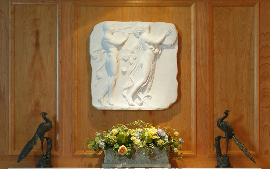 Our Traditional White Bas Relief Wall Plaque Brings A Touch Of