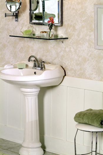 Ivory Elements Desgner wall paneling in the bathroom