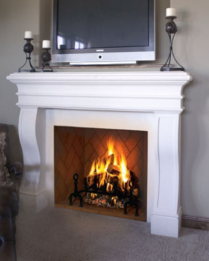 novel stone fireplace mantel