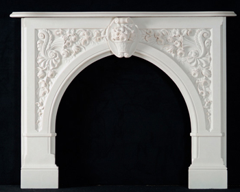 Bianco Marble Andrea Fireplace Mantel
