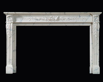 White Auguste Marble Mantel