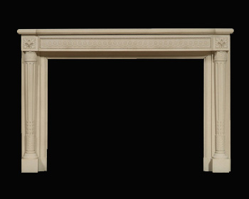 French Louis XVI Neooclassical Marble Mantel