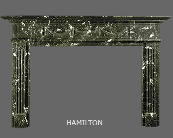 English Greek Revival Marble Mantel with Dentil Jambs