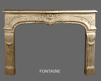French Louis XIV Marble Mantel