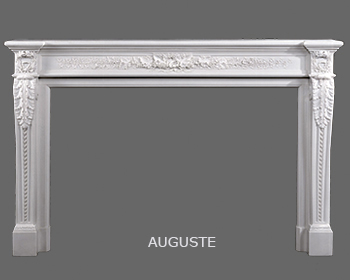 French Louis XVI Neoclassical Marble Mantel