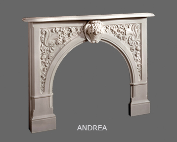 English Neo Palladian Marble Mantle with Rounded Arch