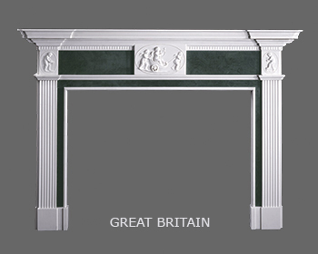 English Neoclassical Marble Mantel