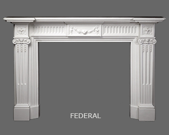 English Robert Adam Designed Marble Mantel