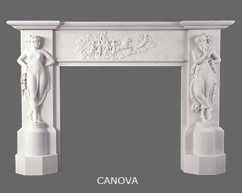 Italian Neoclassical MArble Mantle