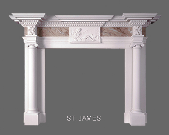 English Greek Revival Marble Mantel
