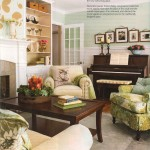 living room made elegant with wainscot