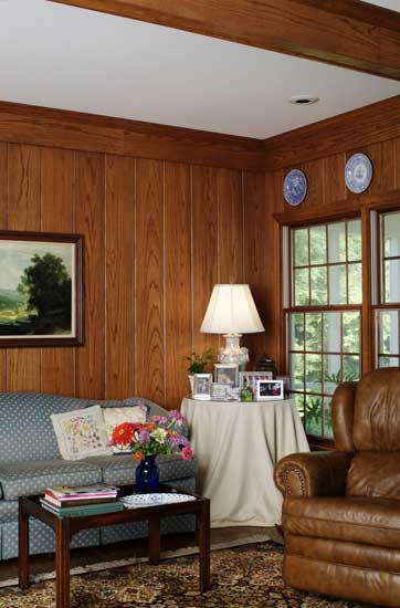 wide solid oak paneling