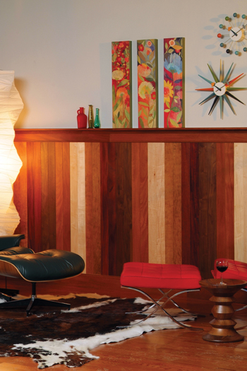 contemporary style solid wood planking