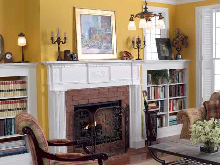 Victorain fireplace mantel in white